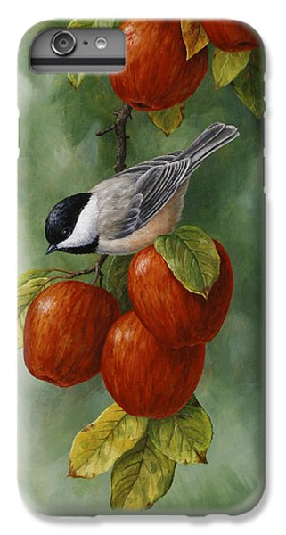 Bird Painting - Apple Harvest Chickadees IPhone 6 Plus Case by Crista Forest