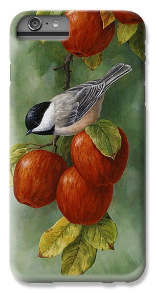 Chickadee iPhone 6 Plus Case - Bird Painting - Apple Harvest Chickadees by Crista Forest