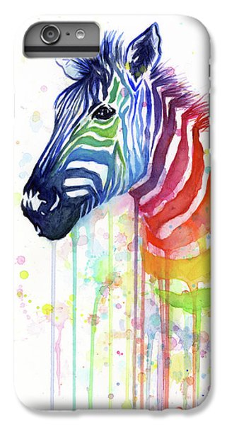 Rainbow Zebra - Ode To Fruit Stripes IPhone 6 Plus Case by Olga Shvartsur