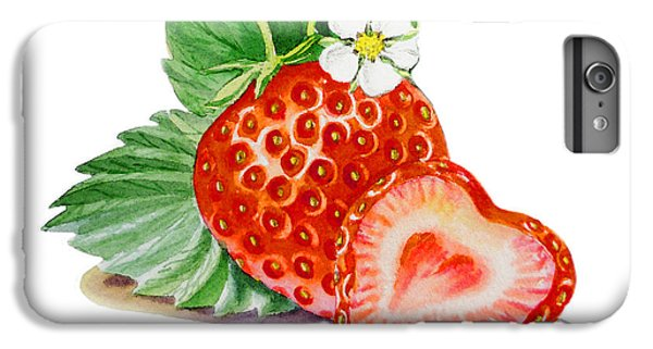 Artz Vitamins A Strawberry Heart IPhone 6 Plus Case by Irina Sztukowski