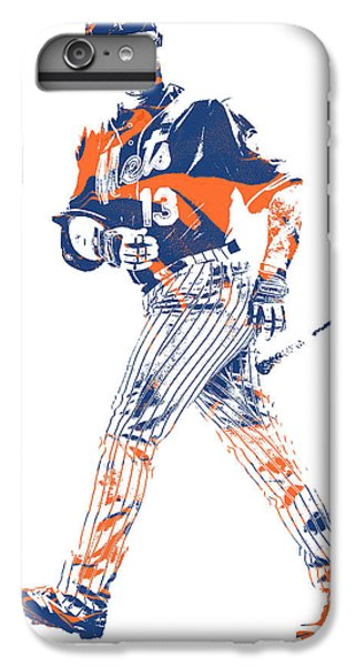 New York Mets iPhone 6 Plus Case - Asdrubal Cabrera New York Mets Pixel Art 1 by Joe Hamilton