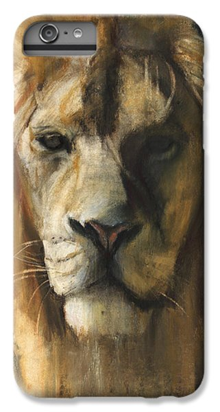 Lion Head iPhone 6 Plus Case - Asiatic Lion by Mark Adlington