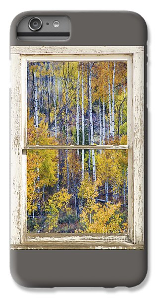 Aspen Tree Magic Cottonwood Pass White Farm House Window Art IPhone 6 Plus Case
