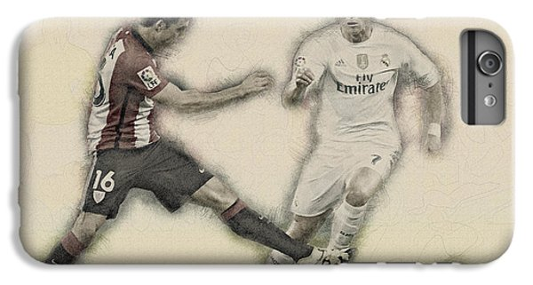 Wayne Rooney iPhone 6 Plus Case - Athletic Club  Vs Real Madrid by Don Kuing