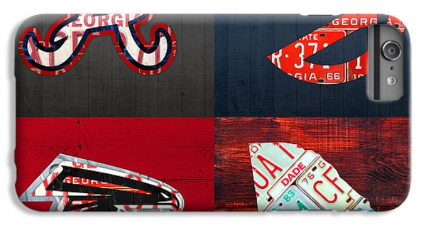 Atlanta Sports Fan Recycled Vintage Georgia License Plate Art Braves Hawks Falcons Plus State Map IPhone 6 Plus Case