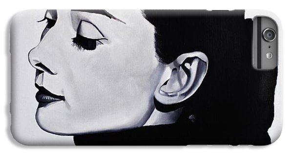Audrey Hepburn 1 IPhone 6 Plus Case by Brian Broadway