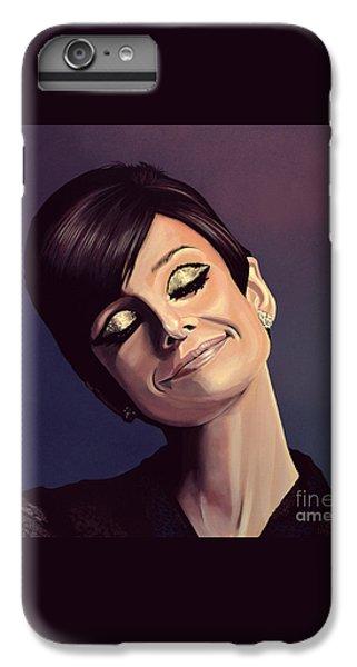 Audrey Hepburn Painting IPhone 6 Plus Case by Paul Meijering