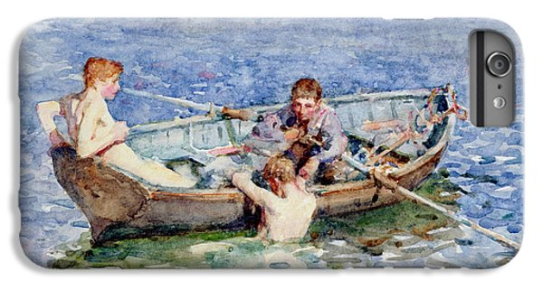 Boat iPhone 6 Plus Case - August Blue by Henry Scott Tuke
