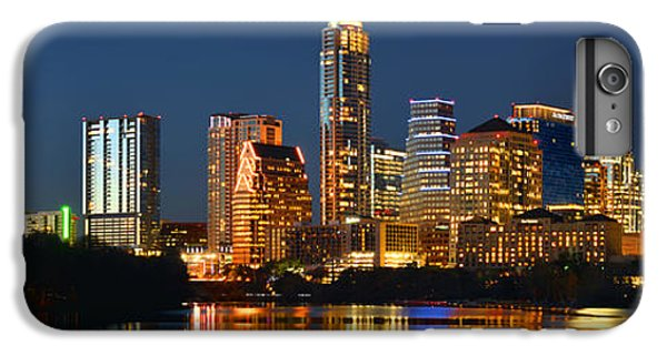 Austin Skyline At Night Color Panorama Texas IPhone 6 Plus Case by Jon Holiday