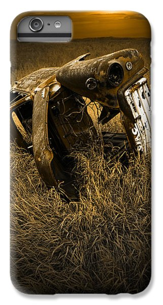 Auto Wreck In A Grassy Field On The Prairie At Sunset IPhone 6 Plus Case