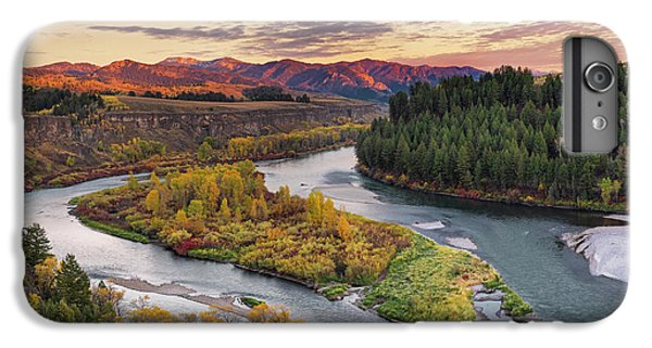 Mountain Sunset iPhone 6 Plus Case - Autumn Along The Snake River by Leland D Howard