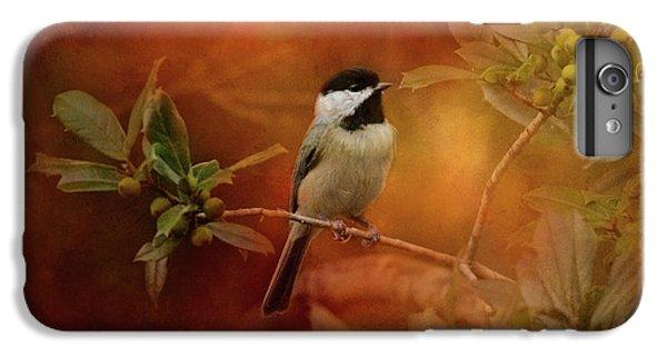 Autumn Day Chickadee Bird Art IPhone 6 Plus Case