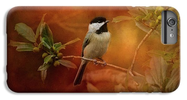 Autumn Day Chickadee Bird Art IPhone 6 Plus Case by Jai Johnson