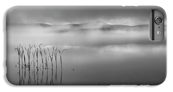 IPhone 6 Plus Case featuring the photograph Autumn Fog Black And White by Bill Wakeley