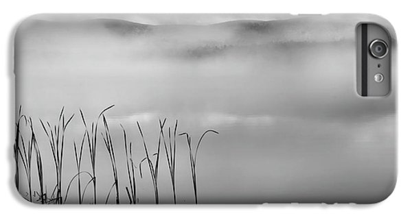 IPhone 6 Plus Case featuring the photograph Autumn Fog Black And White Square by Bill Wakeley