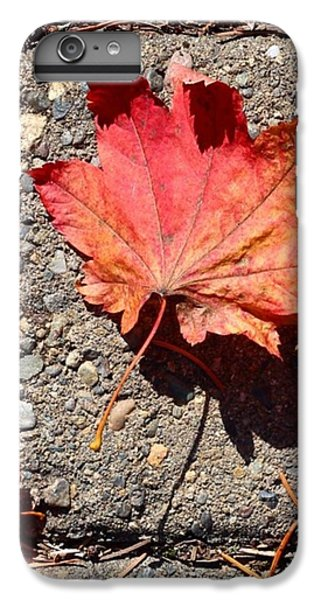 Orange iPhone 6 Plus Case - Autumn Is Here by Blenda Studio