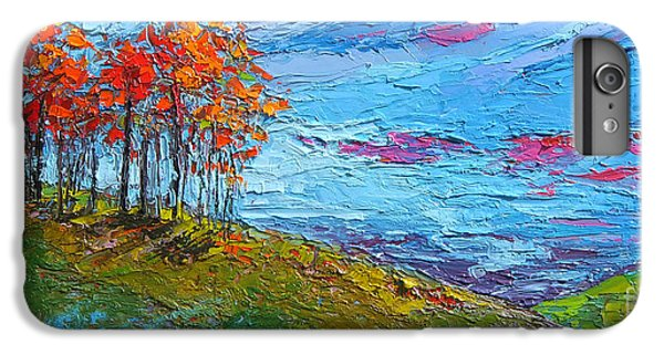 Autumn Sunset - Modern Impressionist Palette Knife Oil Painting IPhone 6 Plus Case