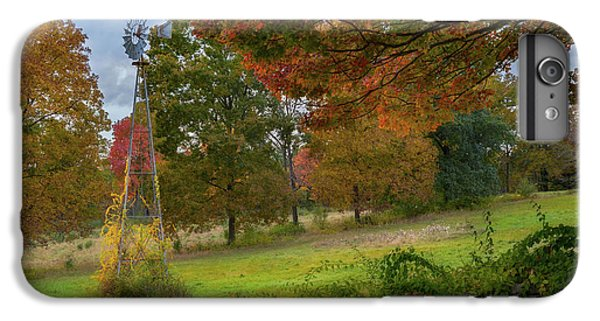 IPhone 6 Plus Case featuring the photograph Autumn Windmill by Bill Wakeley