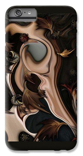 IPhone 6 Plus Case featuring the digital art Autumnal Material by Carmen Fine Art