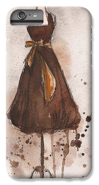 Autumn's Gold Vintage Dress IPhone 6 Plus Case by Lauren Maurer