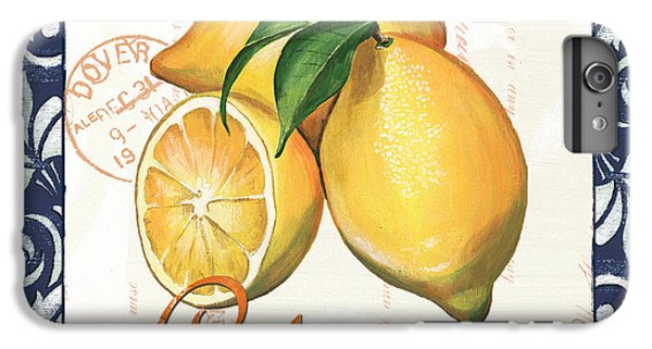 Fruit iPhone 6 Plus Case - Azure Lemon 2 by Debbie DeWitt