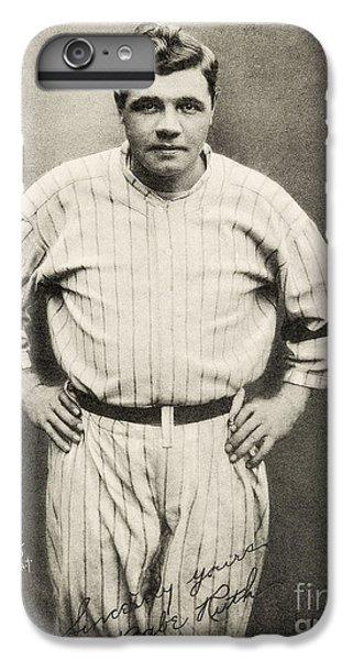 Babe Ruth Portrait IPhone 6 Plus Case by Jon Neidert