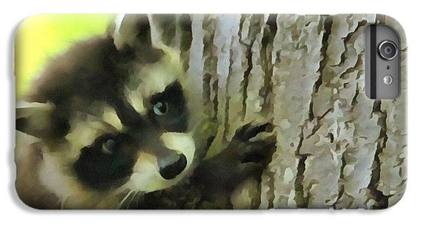Baby Raccoon In A Tree IPhone 6 Plus Case by Dan Sproul