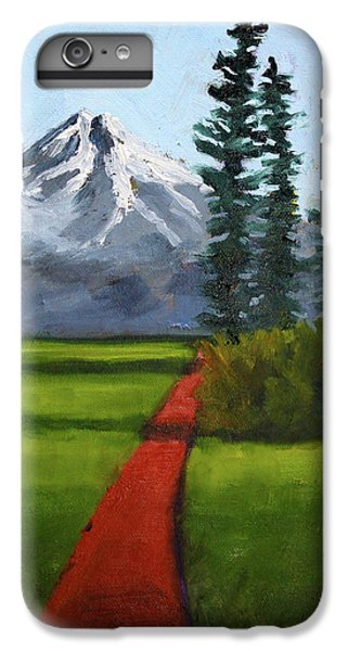 IPhone 6 Plus Case featuring the painting Baker Meadow by Nancy Merkle