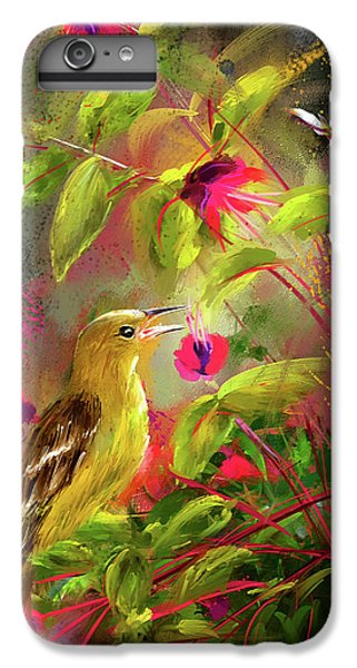Baltimore Oriole Art- Baltimore Female Oriole Art IPhone 6 Plus Case