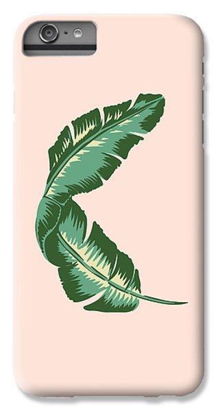 Banana Leaf Square Print IPhone 6 Plus Case by Lauren Amelia Hughes
