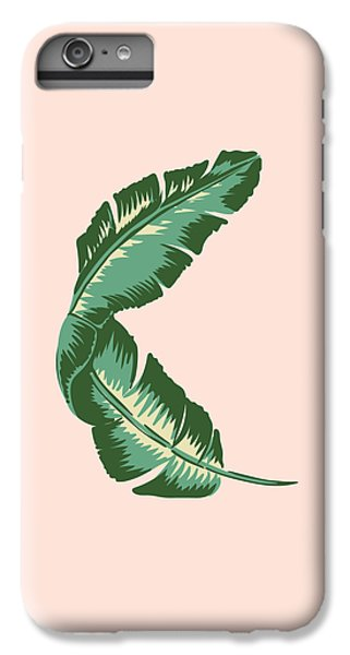 Banana Leaf Square Print IPhone 6 Plus Case