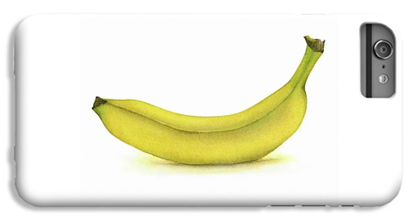 Banana Watercolor IPhone 6 Plus Case by Taylan Apukovska