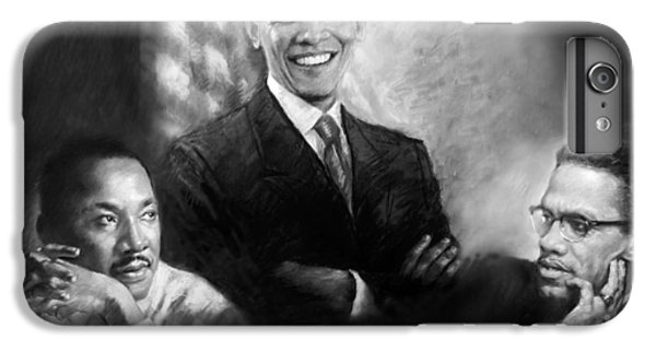 Barack Obama iPhone 6 Plus Case - Barack Obama Martin Luther King Jr And Malcolm X by Ylli Haruni