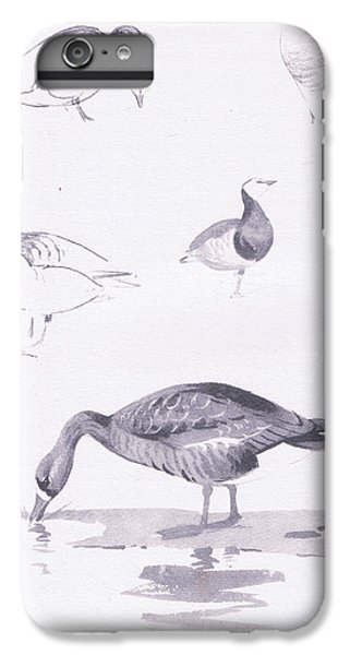 Barnacle And White Fronted Geese IPhone 6 Plus Case by Archibald Thorburn