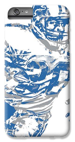 Lion iPhone 6 Plus Case - Barry Sanders Detroit Lions Pixel Art 1 by Joe Hamilton