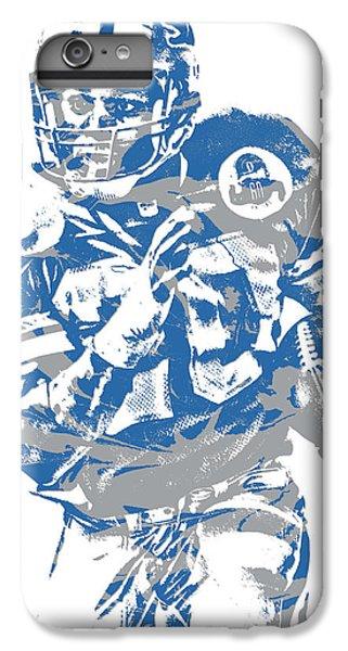 Lion iPhone 6 Plus Case - Barry Sanders Detroit Lions Pixel Art 2 by Joe Hamilton