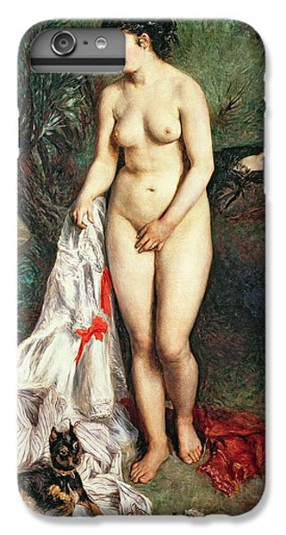 Bather With A Griffon Dog IPhone 6 Plus Case by Pierrre Auguste Renoir