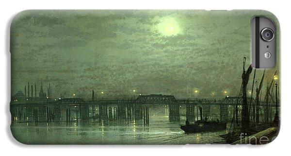 Battersea Bridge By Moonlight IPhone 6 Plus Case by John Atkinson Grimshaw