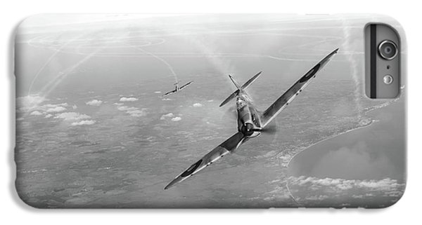 IPhone 6 Plus Case featuring the photograph Battle Of Britain Spitfires Over Kent by Gary Eason