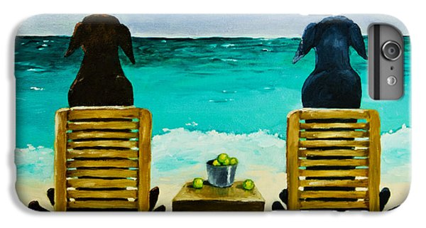 Tennis iPhone 6 Plus Case - Beach Bums by Roger Wedegis