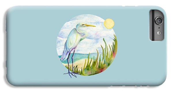 Beach iPhone 6 Plus Case - Beach Heron by Amy Kirkpatrick