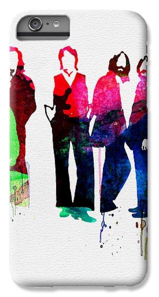 Musicians iPhone 6 Plus Case - Beatles Watercolor by Naxart Studio