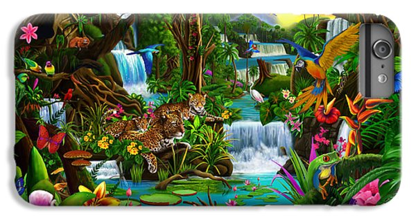 Macaw iPhone 6 Plus Case - Beautiful Rainforest by Gerald Newton