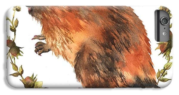 Beaver Painting IPhone 6 Plus Case by Alison Fennell