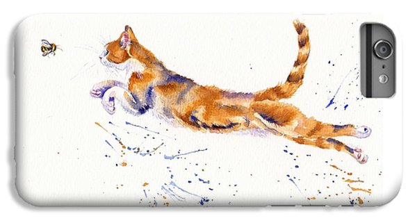 Cat iPhone 6 Plus Case - Bee Airborne by Debra Hall