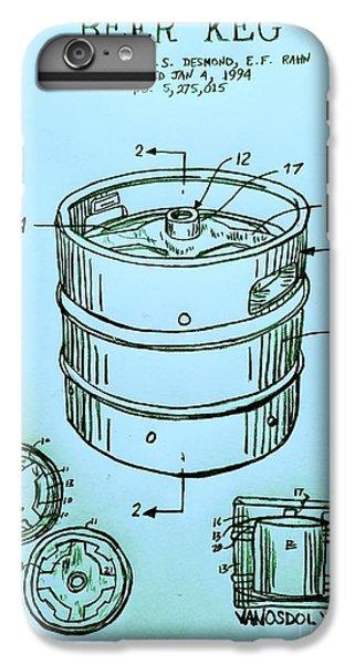 Beer Keg 1994 Patent - Blue IPhone 6 Plus Case by Scott D Van Osdol