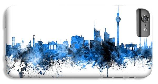 Berlin iPhone 6 Plus Case - Berlin Germany Skyline Blue Signed by Michael Tompsett