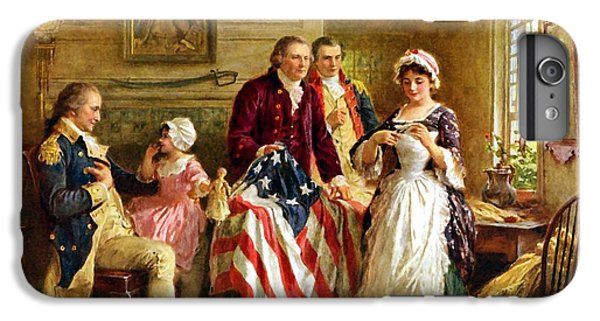 American Landmarks iPhone 6 Plus Case - Betsy Ross And General George Washington by War Is Hell Store