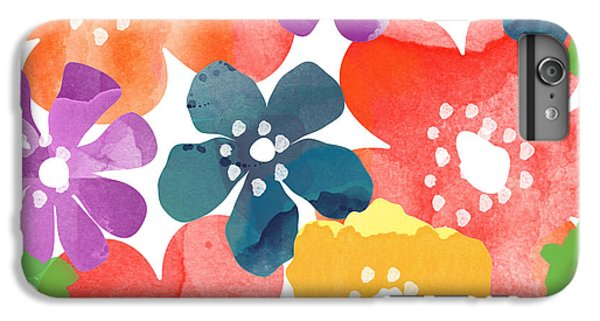 Big Bright Flowers IPhone 6 Plus Case by Linda Woods