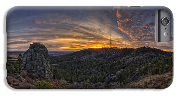 Mountain Sunset iPhone 6 Plus Case - Big Rock Panorama by Mark Kiver